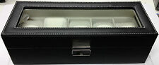 Leather Look Watch Box - 5 Watch Grids
