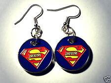 Ohrringe Super Mum Zeichen Symbole Damen Hänger Ohrschmuck Modeschmuck