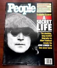 People Magazine  August 15 1988 A Secret Life John Lennon Book Excerpt  Beatles