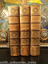 1720 1st ed BIBLE of Calmet / Holy Land Maps Jewish Judaica Plates 3v Large SET