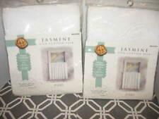 2pr Vtg Furio Jasmine Tier Curtain Pair 60'' x 36'' White Cotton Battenburg Lace