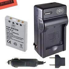 Digital Cam EN-EL5 Battery Charger Kit Nikon Coolpix P80 P90 P100 P500 P510 P520