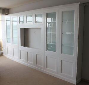 """Hamilton"" Timber Integrated Wall Unit Bookshelf Living Room Furniture"
