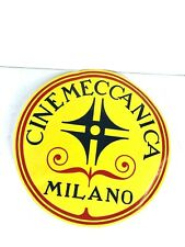 Vintage CINEMECCANICA Milano Sticker 35mm Film Movie Theater Projector ~Large Sz
