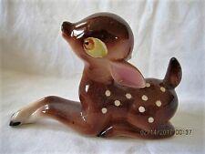 Deer Figurine - Ceramic - 5 1/2 in. - Vintage - EXC.