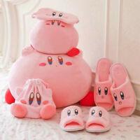 Kirby Adventure Plush Toy Patch Plush Slipper Doll Staffed Cushion Pillow Gift