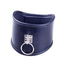 Davidsource Locking Posture Collar With O Ring Leather Neck Belt Choker Collar