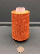 200G CONES 50% SILK 50% LINEN 22NM FINE YARN ORANGE MIX 25834