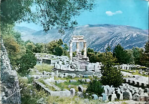 Delphi, Marmaria, Tholos Greece Vintage Souvenir Photograph Postcard Posted 1972