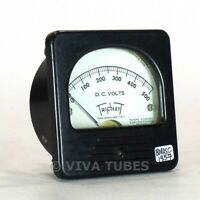 Vintage Triplett Square DC Volt Panel Meter 1000ohm/Volt 0-500 VDC Range