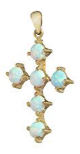 Anhänger Kreuz Gold 585 mit Opalen Anhänger Goldkreuz Opalkreuz Kettenanhänger