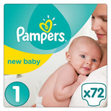 Pampers Size 1 Newborn 2-5 kg New Baby  Jumbo Pack of 72 Nappies Comfortable