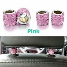 1pc Pink Crystal Car Seat Headrest Decoration Charms Bling Car Accessories