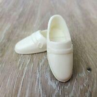 Vintage Ken Clone White Loafer Shoes Hong Kong Hard Plastic Brad Dress Shoes