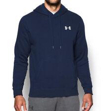 Under Armour Men's Rival Fleece Hoodie Sweatshirt Shirt Navy 1302292 Medium New