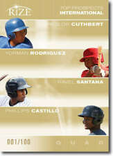 2012 Leaf Rize Draft Gold Top Prospects Quad #CC-YR-RS-PC Cheslor Cuthbert/Yorma