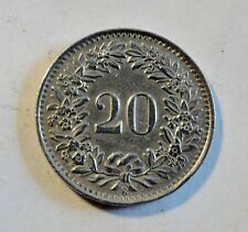 Schweiz / Helvetia - 20 Rappen - 1943 B Nickel - vz erhalten (2367