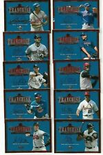 2001 UPPER DECK THE FRANCHISE INSERT COMPLETE SET 10 CARDS JETER GRIFFEY MCGWIRE