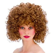 Ladies 80s Brown Disco Perm Fancy Dress