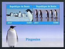 Benin 2017 MNH Penguins 2v M/S Pingouins Birds Stamps