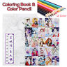 Coloring Book Kids Adult Books Classical Comic Cartoon Hand-painted +12X  !