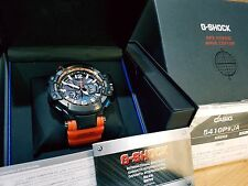 G-Shock Pilot GPW-1000 Orange Carbon Kevlar Face Solar GPS Multi6 Gravity Defier