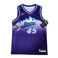 Nike Dri-Fit NBA Utah Jazz Swingman Jersey Shirt #45 MITCHELL Youth Women's M