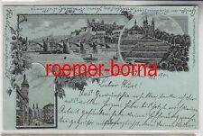 76371 Ak Gruss aus Würzburg Domstrasse usw. 1901