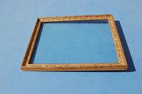 Antiguo marco de madera dorado motivo flores 41,2 cm / 33,2 cm