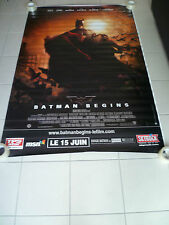 AFFICHE BATMAN BEGINS 4x6 ft Bus Shelter D/S Movie Poster Original 2005