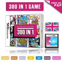 300 in 1 Video Games Cartridge Pokemon Card For DS NDS NDSL NDSi 2DS 3DS UK