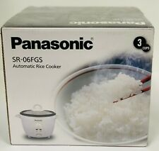 Panasonic SR-06FGS 220v 3-Cup Rice Cooker Keep-Warm Function 220 Volt