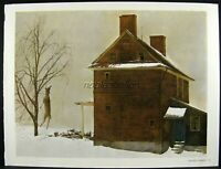 Andrew Wyeth Gravure Print TENANT FARMER & ROASTED CHESTNUTS, Pennsylvania