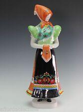 HOLLOHAZA Hungary Porcelain Woman China Figurine Figure Sculpture