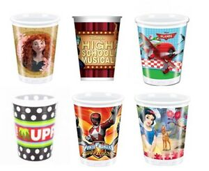 Disney Birthday Party Tableware - Plastic Cups - Select Your Theme