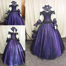 Gothic Beaded Taffeta Bustle Dresses Vampire Ball Halloween Goth Wedding Dress