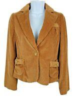 NEW Banana Republic Corduroy Jacket Beige One Button Women's Size 6