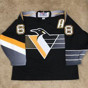 CCM Jaromir Jagr Pittsburgh Penguins Robo Pen NHL Hockey Jersey Black Third XL