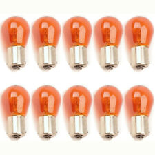 1156NA 12V Amber Park Parking Back Up Tail Light Signal Lamps Box of 10 Bulbs
