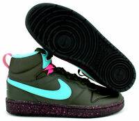 "New Nike Court Borough Mid 2 Boot (GS) 5.5Y BQ5440 300 ""Miami Vice"""