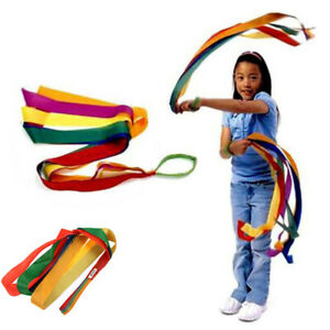 1pc Stage Props Rainbow Toys Handheld Dance Ribbon for Kids Multi Color Fad