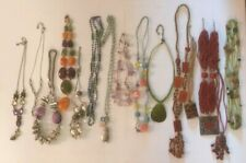 Necklace Lot Necklaces Chain Chunky Statement Coloured Beads Tone Day Evening 2