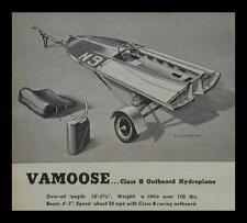 10' Class B Racing Hydroplane 1951 HowTo build PLANS Mahogany Vamoose