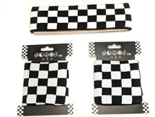 New Black White Checked Wrist Headband Band Sweat Loop Terry Wristband Checkered