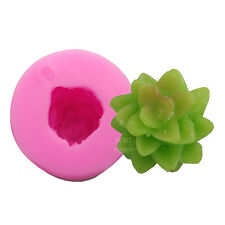 Succulent Soap Molds 3D DIY Silicone Fondant Cake Candle Moulds Chocolate Cactus
