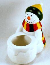 "Partylite Votive Candle Holder PartyLite Snowman Christmas Winter 5"" Retired"