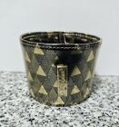 Starbucks Coffee Gold Pyramid Reusable Cup Sleeve One Size Triangles