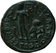 Roman Coin 355AD Constans Follis Phoenix Galley Thessalonica Genuine