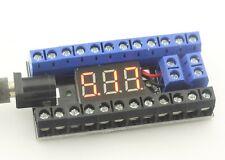 Power Distribution 2X12 screw Terminal Blocks 16A voltmeter included JAMMA,model