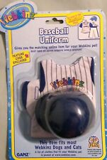 WEBKINZ NEW  WITH TAG BASEBALL UNTIFORM COSTUME BY GANZ NRFP UN USED CODE